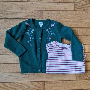Gymboree Sweater and Shirt Set